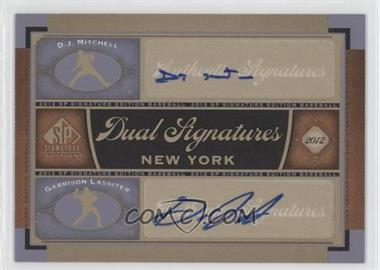 2012 SP Signature Edition Dual Signatures #NYY23 - D.J. Mitchell, Garrison Lassiter