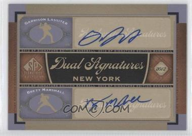 2012 SP Signature Edition Dual Signatures #NYY24 - Garrison Lassiter, Brett Marshall