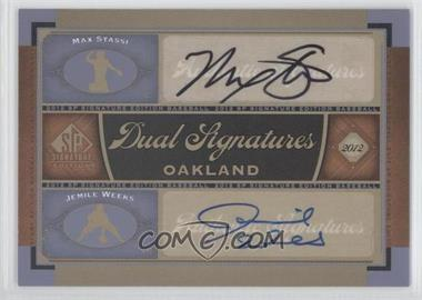 2012 SP Signature Edition Dual Signatures #OAK16 - Max Stassi, Jemile Weeks