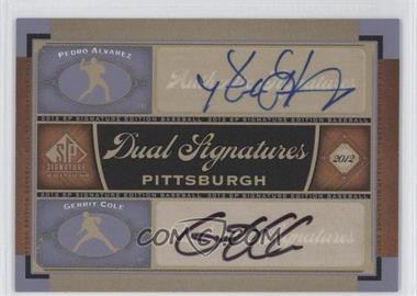 2012 SP Signature Edition Dual Signatures #PIT13 - Pedro Alvarez, Gerrit Cole