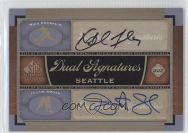 2012 SP Signature Edition Dual Signatures #SEA13 - Nick Franklin, Justin Smoak