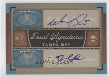 2012 SP Signature Edition Dual Signatures #TB16 - Wade Davis, David Price