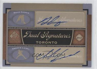 2012 SP Signature Edition Dual Signatures #TOR12 - David Cooper, Andrew Liebel