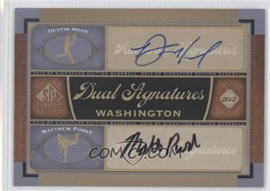 2012 SP Signature Edition Dual Signatures #WAS12 - Matt Purke, Destin Hood