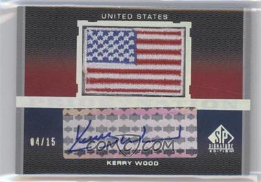 2012 SP Signature Edition Pride of a Nation Autographs #PN-KW - Kerry Wood /15