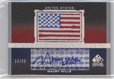 2012 SP Signature Edition Pride of a Nation Autographs #PN-MW - Maury Wills /99