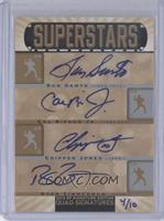 Ron Santo, Cal Ripken Jr., Chipper Jones, Ryan Zimmerman /10