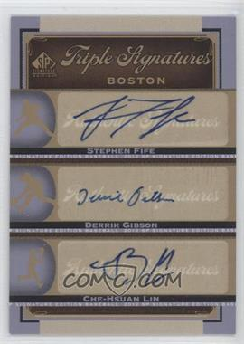 2012 SP Signature Edition Triple Signatures #BOS35 - Stephen Fife, Che-Hsuan Lin, Derrik Gibson