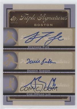 2012 SP Signature Edition Triple Signatures #BOS35 - Stephen Fife, Derrick Gibson, Che-Hsuan Lin, Derrik Gibson