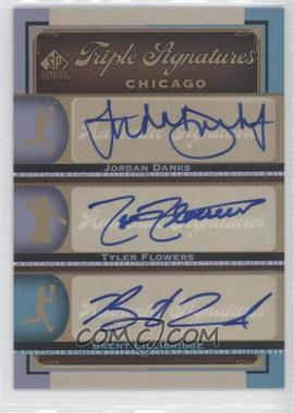 2012 SP Signature Edition Triple Signatures #CHW11 - Tyler Flowers, Brent Lillibridge, Jordan Danks