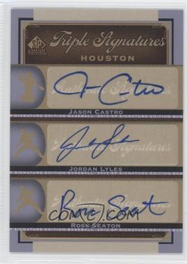2012 SP Signature Edition Triple Signatures #HOU14 - Jason Castro, Jordan Lyles, Ross Seaton