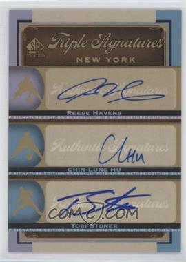 2012 SP Signature Edition Triple Signatures #NYM14 - Reese Havens, Chin-Lung Hu, Tobi Stoner