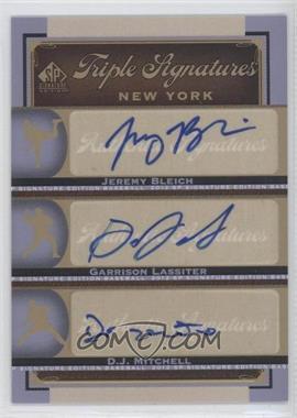 2012 SP Signature Edition Triple Signatures #NYY25 - Jeremy Bleich, Garren Lassiter, D.J. Mitchell