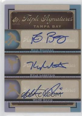 2012 SP Signature Edition Triple Signatures #TB17 - Reid Brignac, Wade Davis, Kyle Lobstein