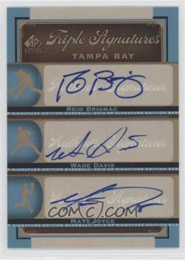 2012 SP Signature Edition Triple Signatures #TB18 - Reid Brignac, Wade Davis, Matt Joyce