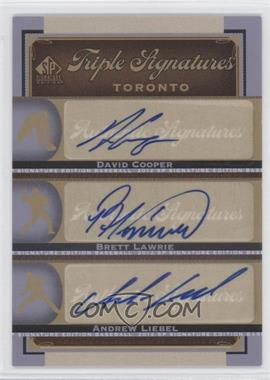 2012 SP Signature Edition Triple Signatures #TOR14 - David Cooper, Brett Lawrie, Andrew Liebel
