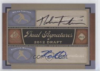 2012 SP Signature Edition #2012DRAFT - Nolan Fontana, Karsten Whitson