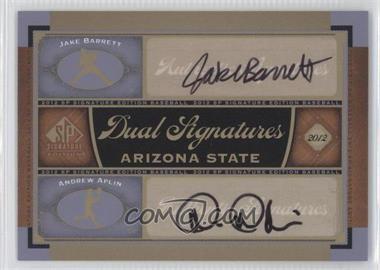 2012 SP Signature Edition #AZST1 - Jake Barrett, Andrew Aplin