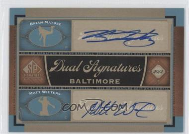 2012 SP Signature Edition #BAL13 - Brian Matusz, Matt Wieters
