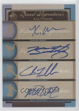 2012 SP Signature Edition #BAL17 - Xavier Avery, Brian Matusz, Chris Tillman, Matt Wieters