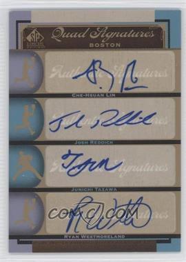 2012 SP Signature Edition #BOS38 - Che-Hsuan Lin, Junichi Tazawa, Josh Reddick, Ryan Westmoreland