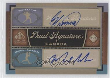 2012 SP Signature Edition #CAN1 - Brett Lawrie, Michael Saunders
