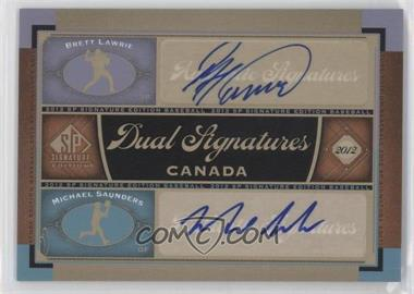 2012 SP Signature Edition #CAN1 - Brett Lawrie, Michael Saunders