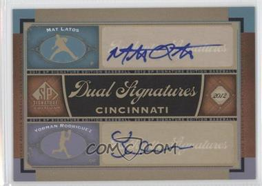 2012 SP Signature Edition #CIN10 - Matt Latos, Yorman Rodriguez