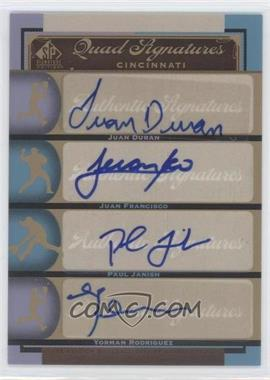 2012 SP Signature Edition #CIN12 - Justin Duchscherer, Paul Janish, Yorman Rodriguez, Justin Dunning