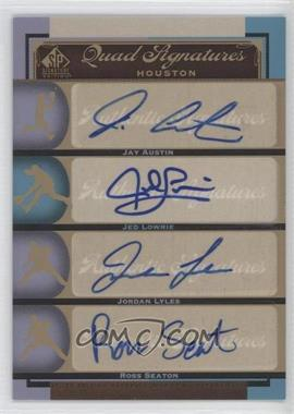 2012 SP Signature Edition #HOU15 - Jed Lowrie, Jordan Lyles, Ross Seaton, Jay Austin