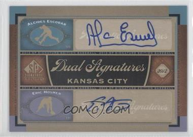 2012 SP Signature Edition #KC14 - Alcides Escobar, Eric Hosmer