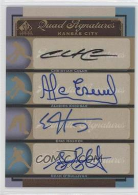 2012 SP Signature Edition #KC18 - Alcides Escobar, Eric Hosmer, Sean O'Sullivan, Christian Colon