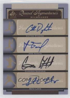 2012 SP Signature Edition #MIL16 - Cutter Dykstra, Cameron Garfield, Jose Garcia, Seth Lintz