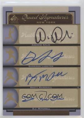 2012 SP Signature Edition #NYY26 - Andrew Aplin, Brett Marshall, D.J. Mitchell, Garrison Lassiter