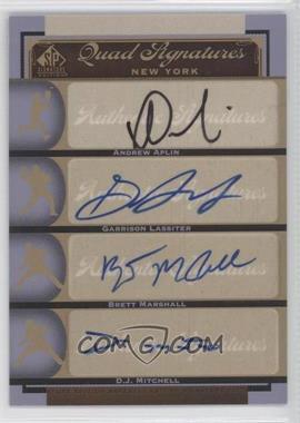 2012 SP Signature Edition #NYY26 - Andrew Aplin, Brett Marshall, Gavin LaValley, Garren Lassiter, D.J. Mitchell