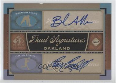 2012 SP Signature Edition #OAK17 - Brandon Allen, Collin Cowgill