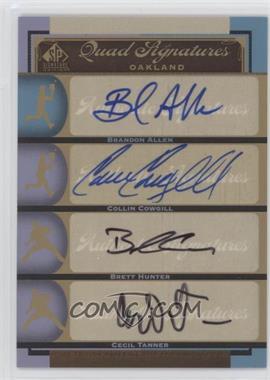 2012 SP Signature Edition #OAK20 - Brandon Allen, Collin Cowgill, Brett Hunter, Cecil Tanner