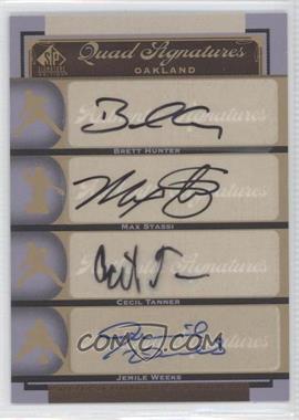 2012 SP Signature Edition #OAK21 - Brian Humphries, Matt Stairs, Jemile Weeks, Brett Hunter