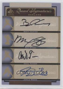 2012 SP Signature Edition #OAK21 - Jemile Weeks, Brett Hunter, Max Stassi, Cecil Tanner