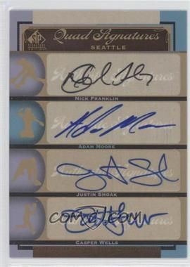 2012 SP Signature Edition #SEA16 - Nick Franklin, Adam Moore, Justin Smoak, Casper Wells