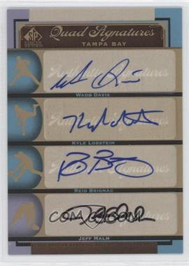 2012 SP Signature Edition #TB19 - Wade Davis, Kyle Lohse, Reid Brignac, Jeff Malm, Kyle Lobstein