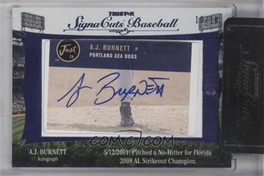 2012 TRISTAR Signa Cuts Cut Autographs Blue #AJBU - A.J. Burnett /10