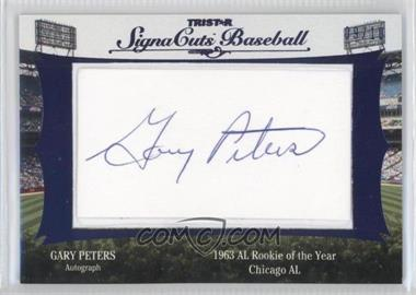 2012 TRISTAR Signa Cuts Cut Autographs Blue #GAPE - Gary Peters /10