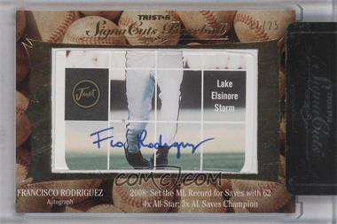 2012 TRISTAR Signa Cuts Cut Autographs Gold #N/A - Francisco Rodriguez /25