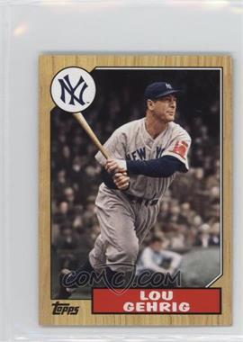 2012 Topps - 1987 Topps Minis #TM-125 - Lou Gehrig