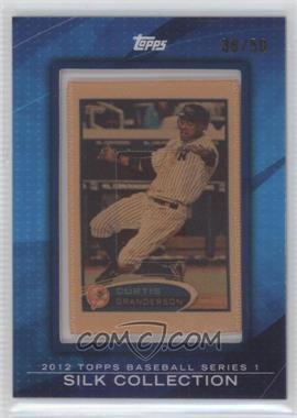 2012 Topps - [Base] - Framed Silk Collection #CUGR - Curtis Granderson /50