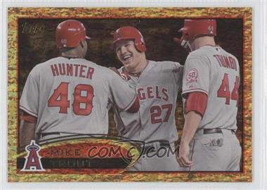 2012 Topps - [Base] - Golden Moments Parallel #446 - Mike Trout