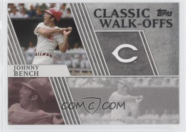 2012 Topps - Classic Walk-Offs #CW-3 - Johnny Bench