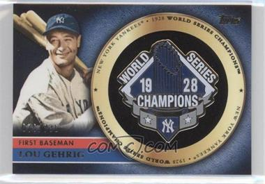 2012 Topps - Gold Commemorative Pin Card #GCP-LG - Lou Gehrig /736