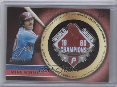 2012 Topps - Gold Commemorative Pin Card #GCP-MS - Mike Schmidt /736